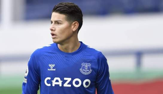 James se lesionó contra Liverpool y será baja del Everton ante Southampton.