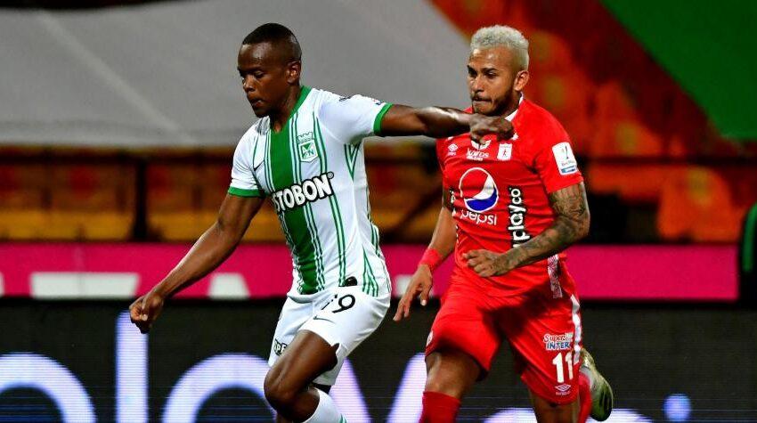 Atlético Nacional empató en el último minuto en el clásico contra el América