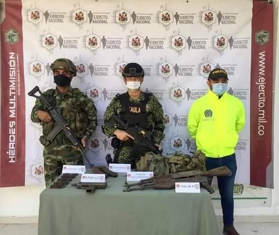 Autoridades hallaron depósito del ELN en el Sur de Bolivar.