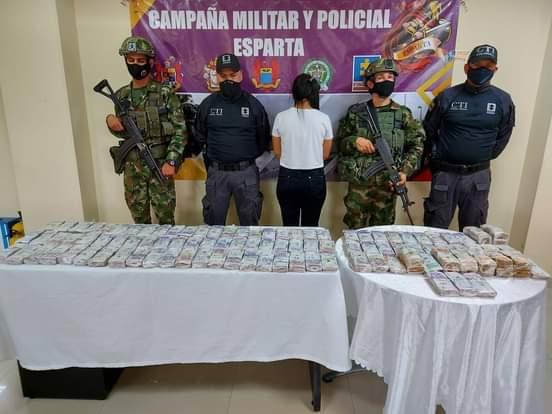 En Norte de Santander capturada mujer con casi Mil millones en efectivo