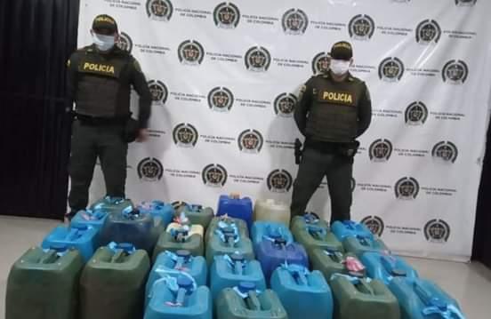 Policia incauta gasolina de contrabando