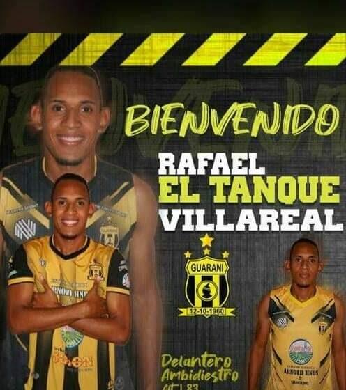 Futbolista Cesarence, jugador del Guaraní de Paraguay