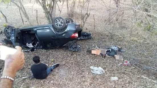 Tres muertos y dos heridos deja accidente vial entre El Copey y Loma del Balsamo