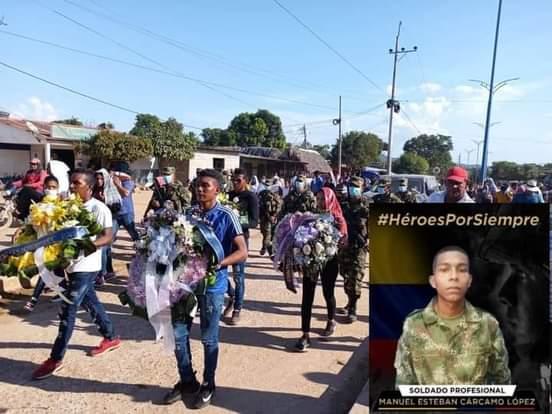 En Barranco de Loba Bolivar despidieron a soldado muerto en combate.