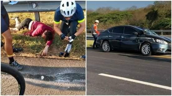 Ciclista fue arrollado por vehículo en la vía al Mar.