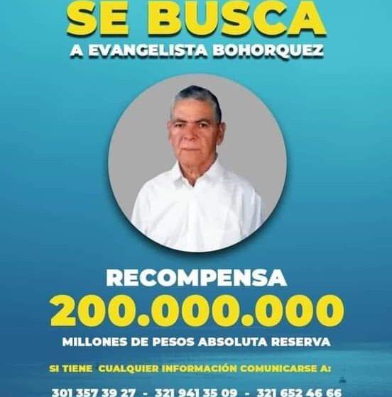 Familiares de adulto secuestrado ofrece 200 millones por información sobre su paradero.