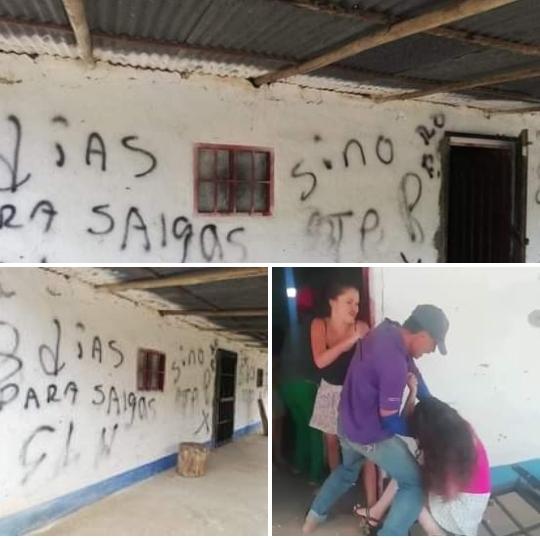 Casa en disputa familiar amaneció con letreros del ELN
