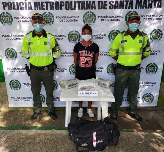 Con varios kilos de marihuana, fue capturada alias Salchipapa.