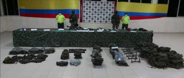 Ejército ubicó caleta con material de guerra en el sur de Bolívar.